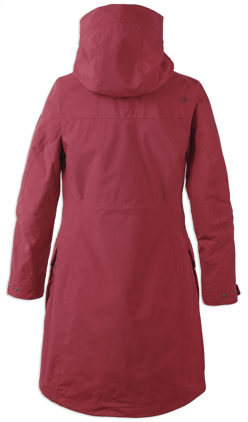 Back Elemental Red Didriksons Ladies Thelma II Waterproof Coat