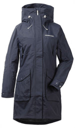 Dark Night Navy Didriksons Thelma II Waterproof Parka Front view