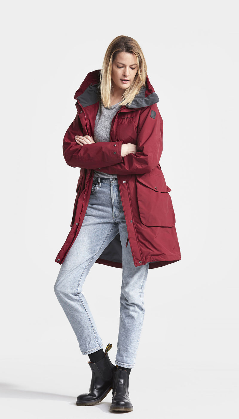 Red Didriksons Ladies Thelma II Waterproof Coat