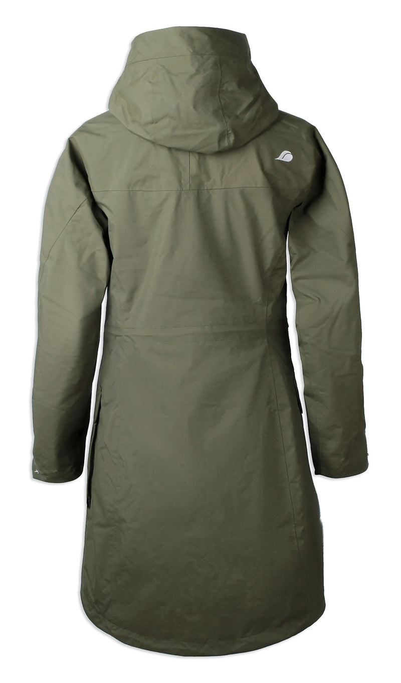 Back view Fern Didriksons Ladies Thelma II Waterproof Coat