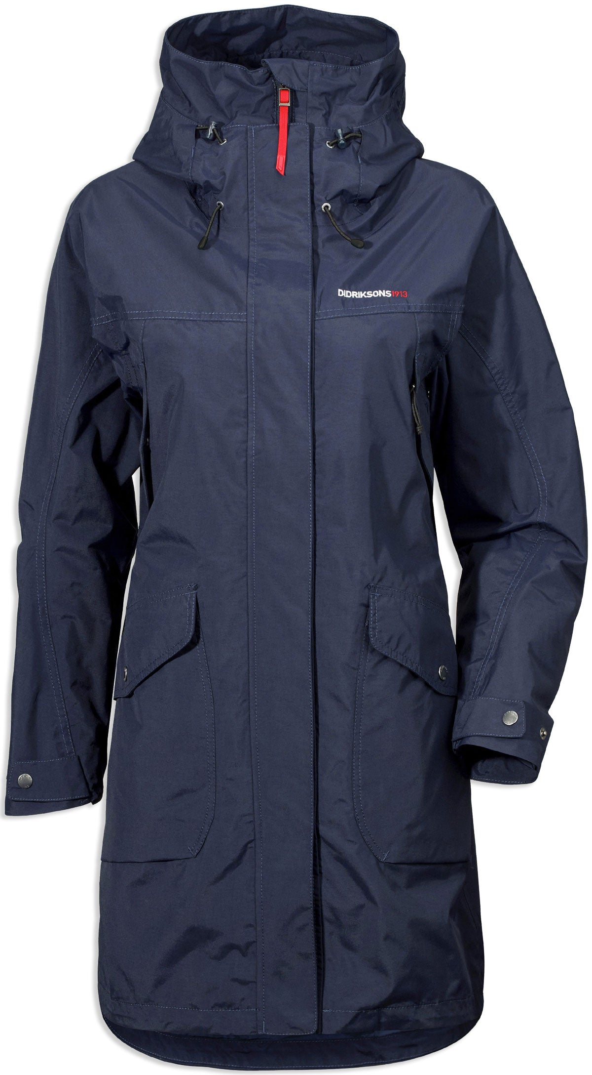 navy Didriksons Ladies Thelma Waterproof parka coat