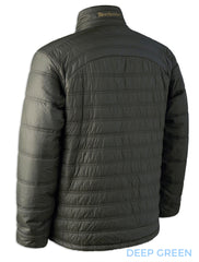 Deerhunter VErdun hunting padded jacket back view of verdun jacket Deep Green (dark olive, muted green)