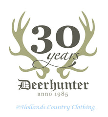 deerhunter outdoor clothing antlers logo for 30 years in business