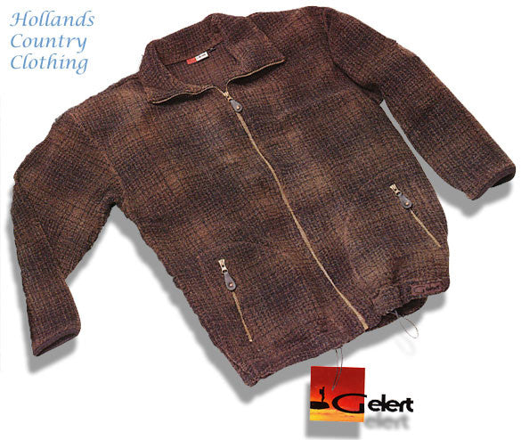 Gelert Thorsen Jacquard Sherpa Fleece Jacket in brown