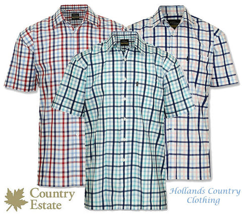 Champion Prestwick Short Sleeved Shirt in three summer colours