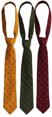 Deerhunter Pheasant Silk/Wool Tie in red gold an dgreen
