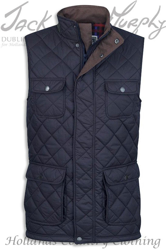 navy Jack Murphy Timothy Diamond Quilted bodywarmer Gilet