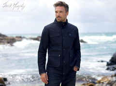 country man wearing Jack Murphy Tod  Waterproof Utility Jacket