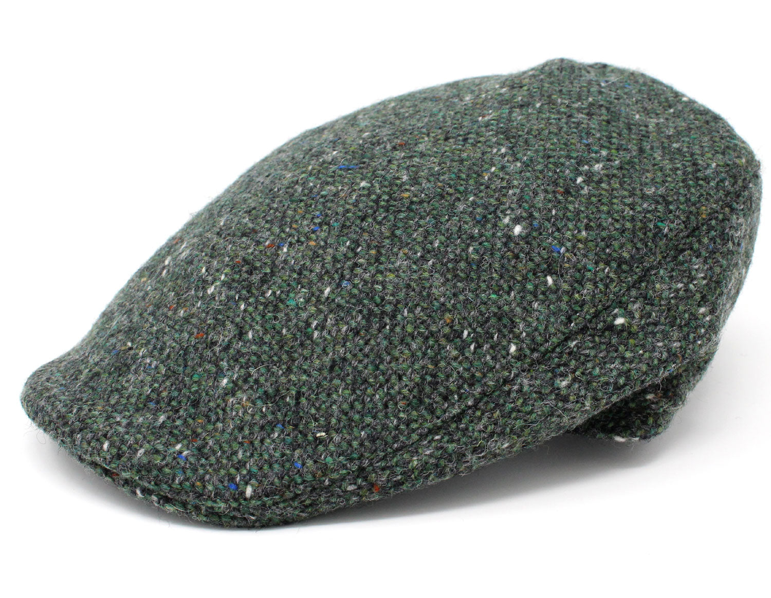 c92f63243 Hanna Donegal Touring Tweed Cap   Green Salt and Pepper – Hollands ...