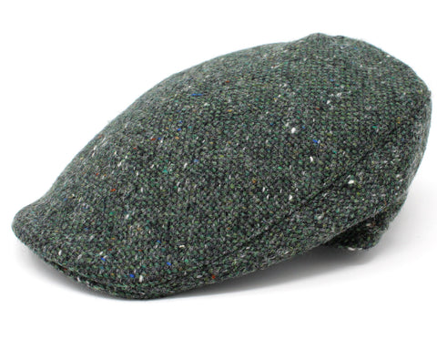 Hanna Donegal Touring Tweed Cap | Green Salt and Pepper