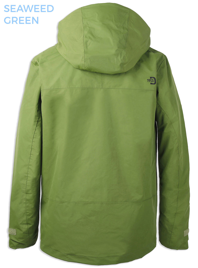 rear view seaweed green Tropos Waterproof Shell Jacket by Didrikson