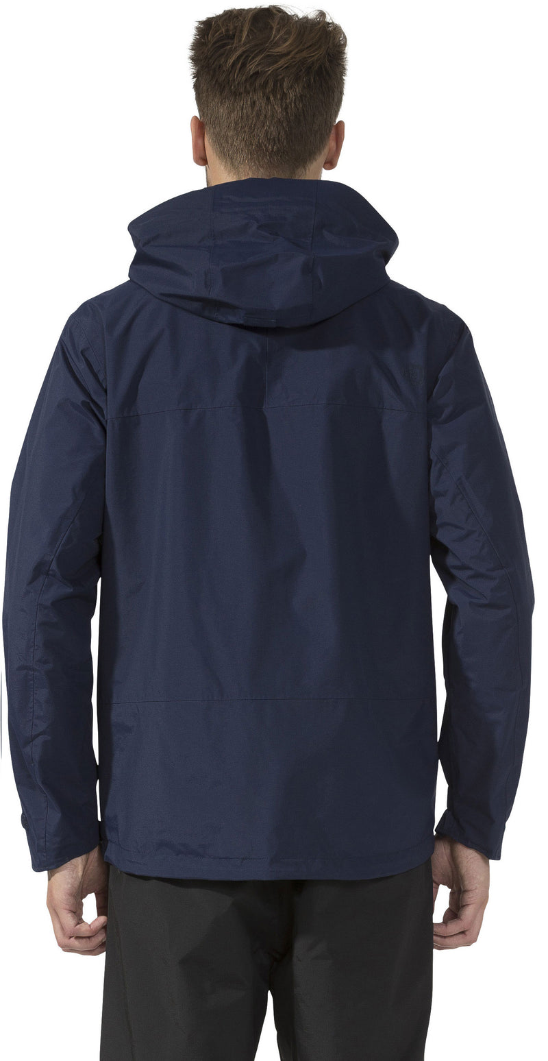 back view navy didrikson mens waterproof jacket lime green hooded