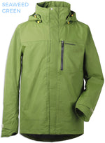 Seaweed Green Tropos Waterproof Shell Jacket by Didrikson  front