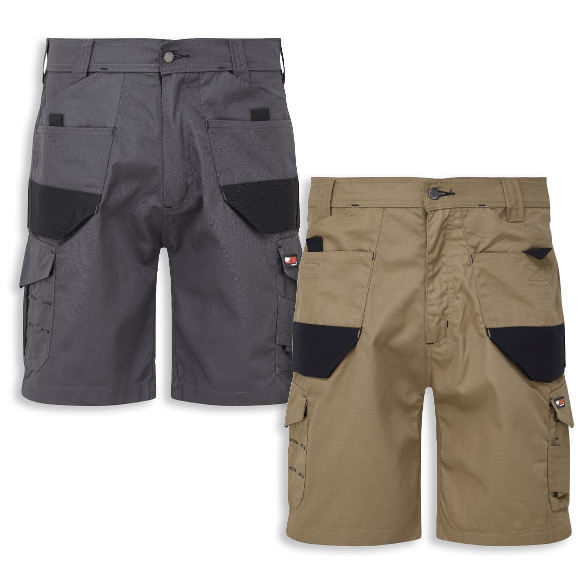 Castle Tuffstuff Elite Work Shorts | Sand/Black, Grey/Black
