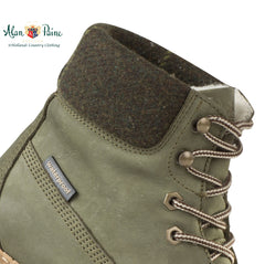 tweed ankle cuff on Alan Paine Lace Up Shooting Boot
