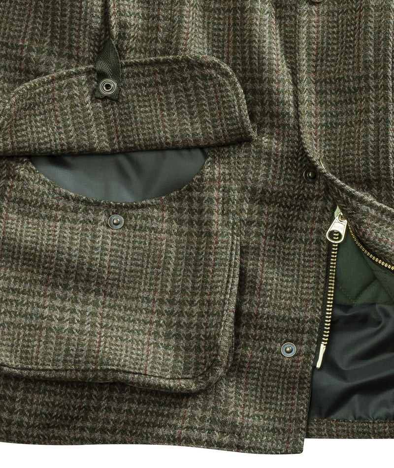 pocket detail Hoggs of Fife Invergarry Tweed Field Waistcoat
