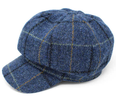 Hanna Tweed Glenveagh Cap | Blue with Check