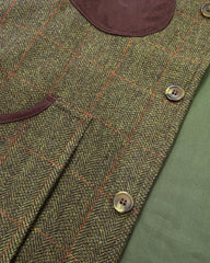 Front Hoggs Tweed shooting gilet vest Harewood