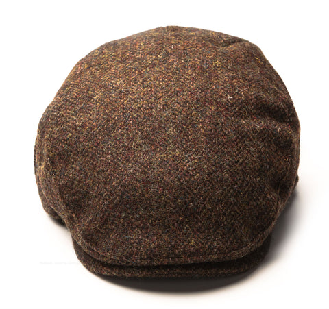 Heather Highland Harris Tweed Flat Cap | Olive/Brown