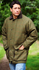Classic Country Tweed Field Shooting jacket dark green