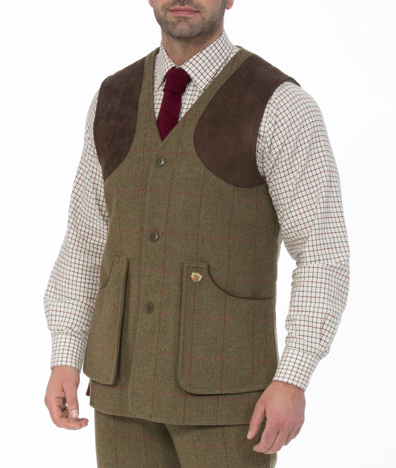 Man wearing Alan Paine Combrook Shooting Waistcoat | Sage