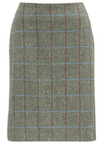 Alan Paine Surrey Knee Length Skirt | Moss Green