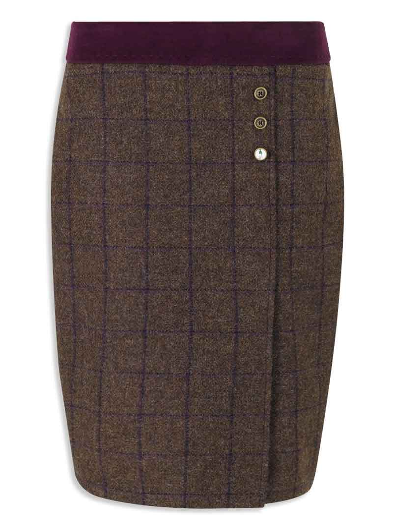 Jack Murphy Angie Tweed Skirt burren colour pencil style country