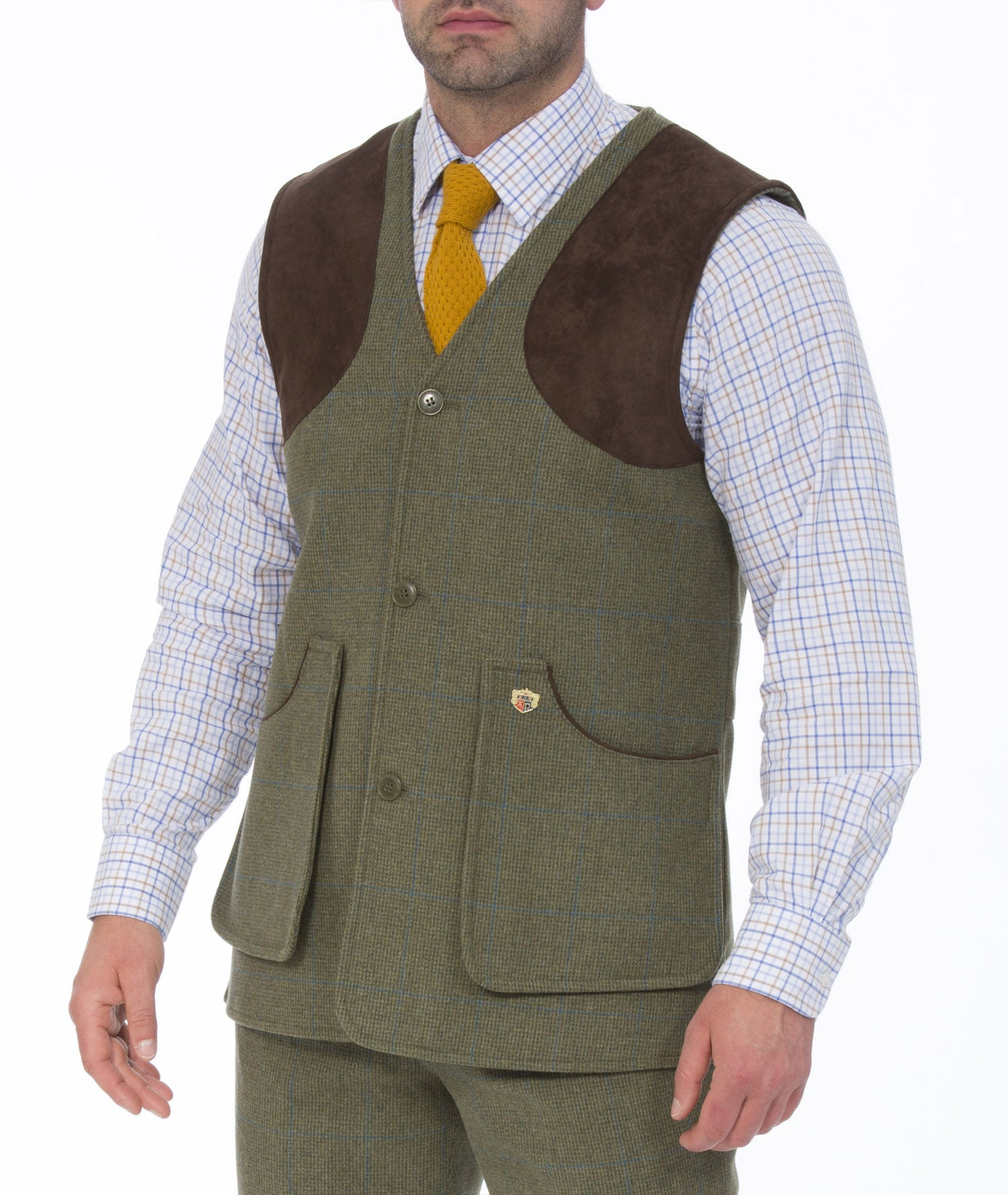 Lagoon Tweed Combrook Men's Tweed Shooting Waistcoat by Alan Paine