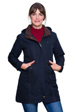 Navy Jack Murphy Una 3/4 Waterproof Coat