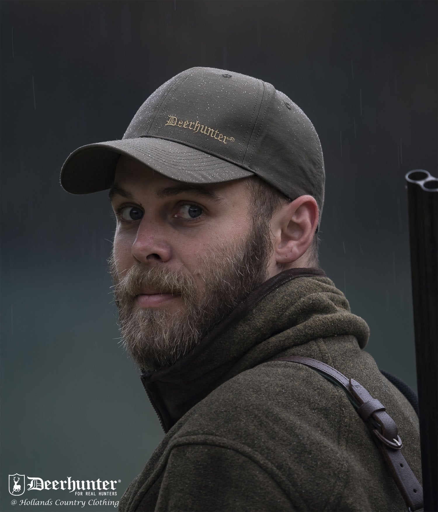 Man Wearing Deerhunter Upland Cap
