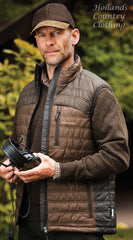 wear over a shirt or pullover deerhunter quilted bodywarmer in Black ink three colours