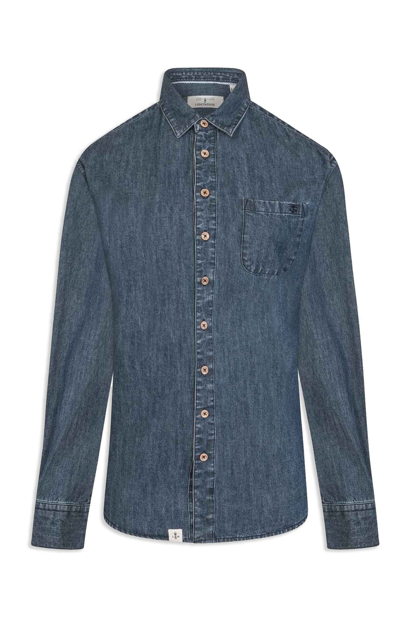 Ocean Ladies Washed Denim Shirt by Lighthouse