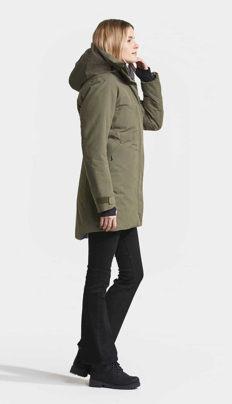 Side view Didriksons Silje Padded Waterproof Parka