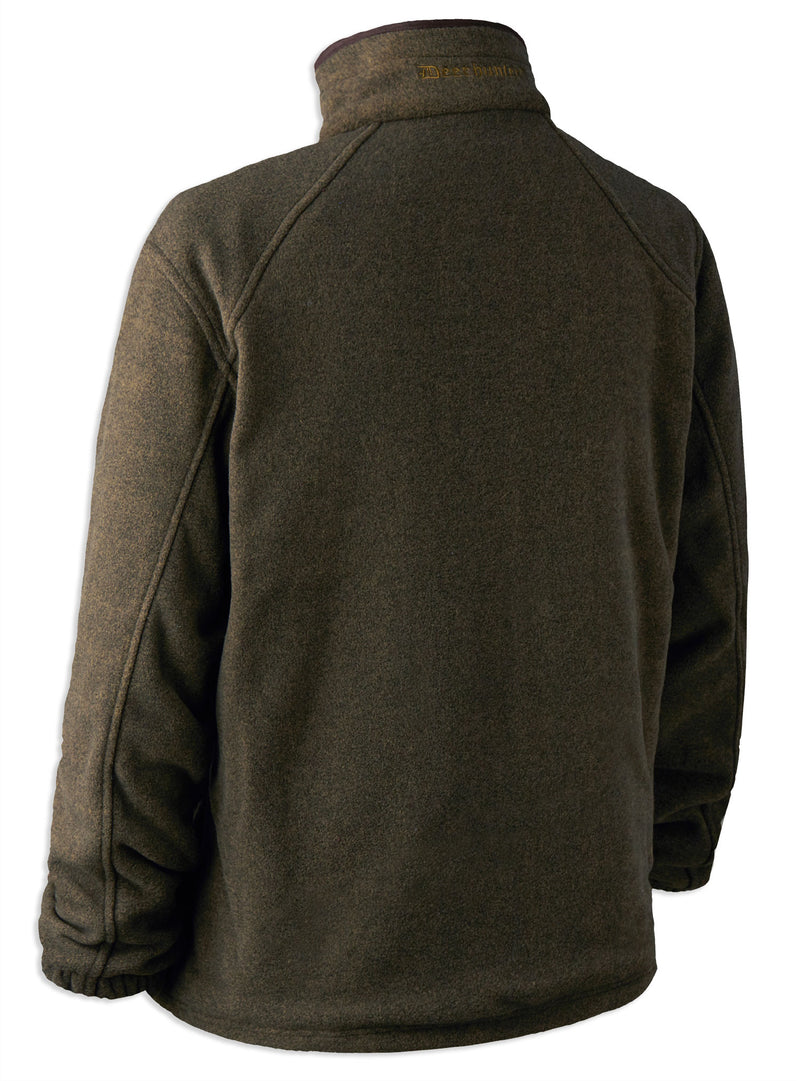 rear view olive Deerhunter Wingshooter Stormliner Fleece Jacket