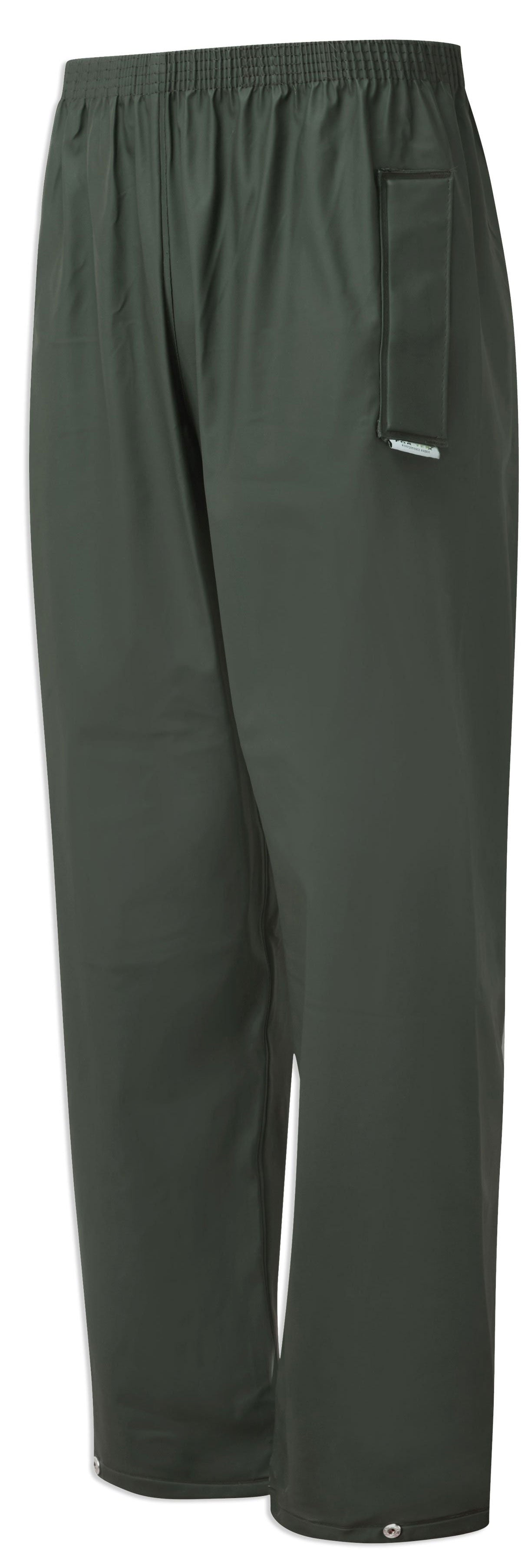 Castle Fortex Flex Waterproof Trousers in olive green