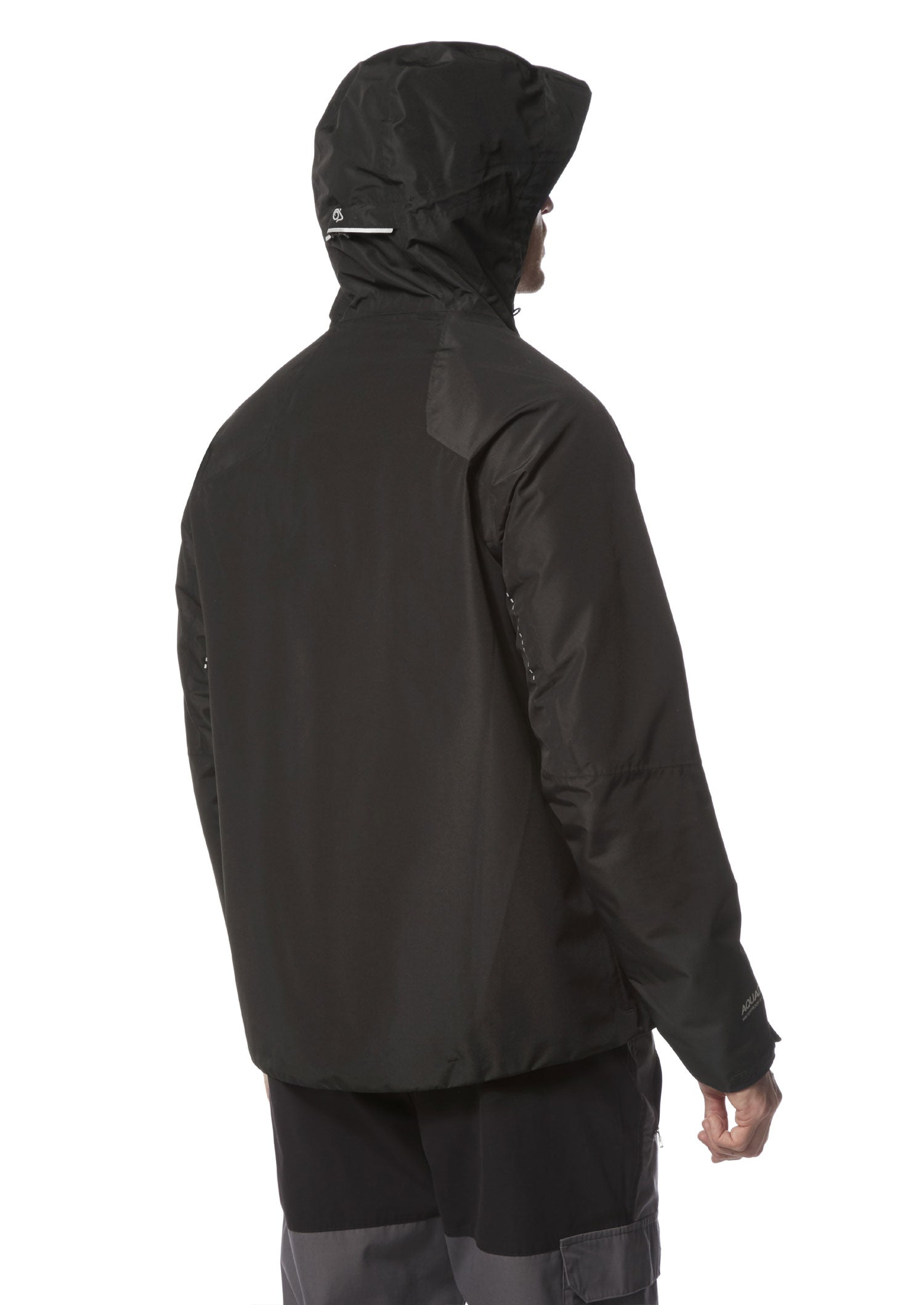Back view Craghoppers Horizon Jacket | Black