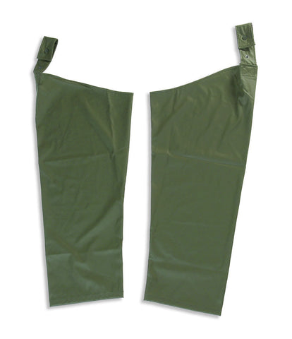 Waterproof breathable legs or leggings, or leg slips in olive for farmers
