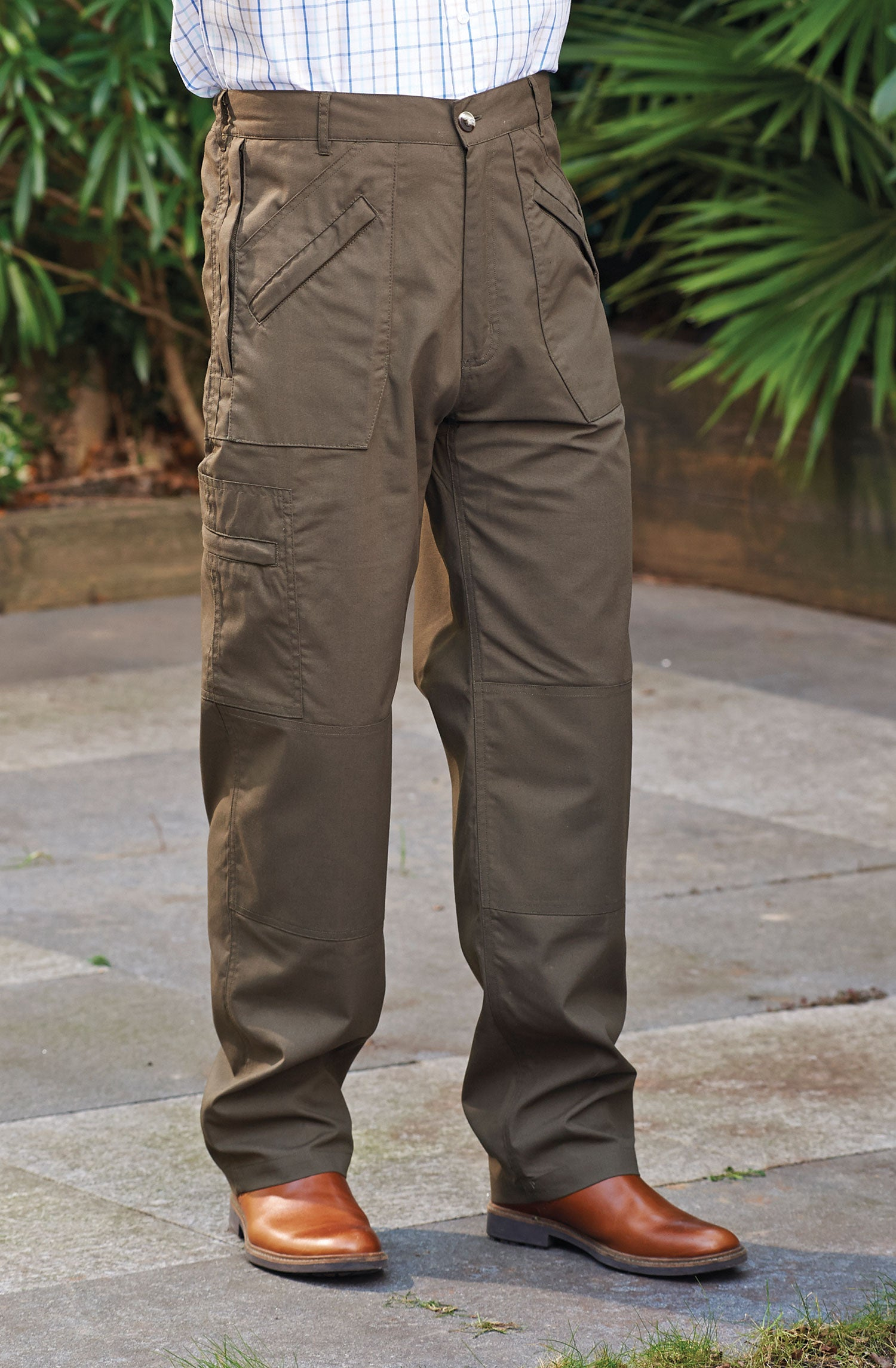 olive Champion Men's Multi Pocket Activity Trousers