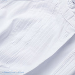 pleated front  shirt white mona shirt