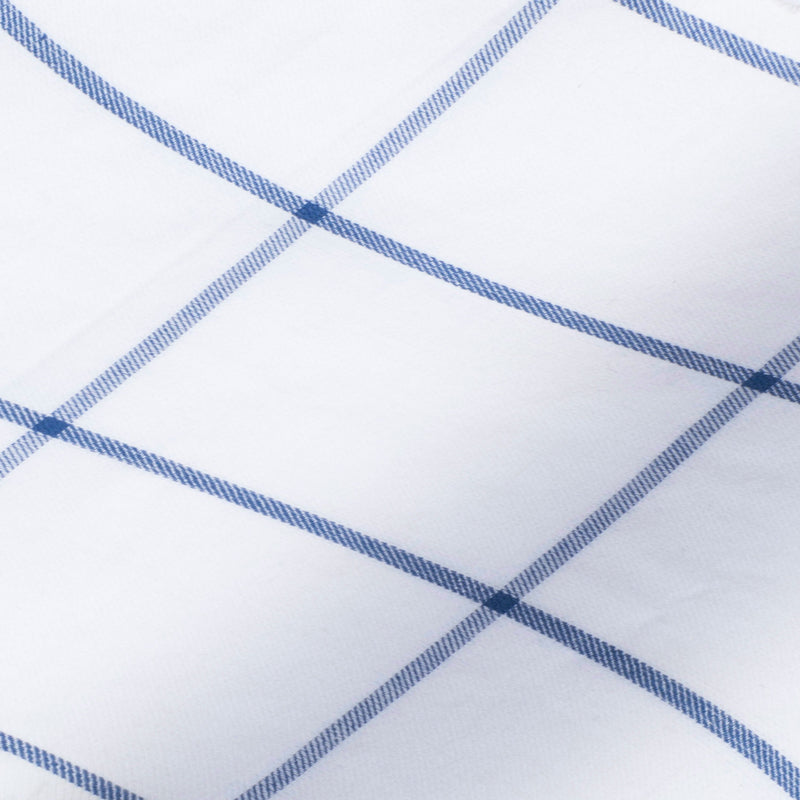 White with large blue over check