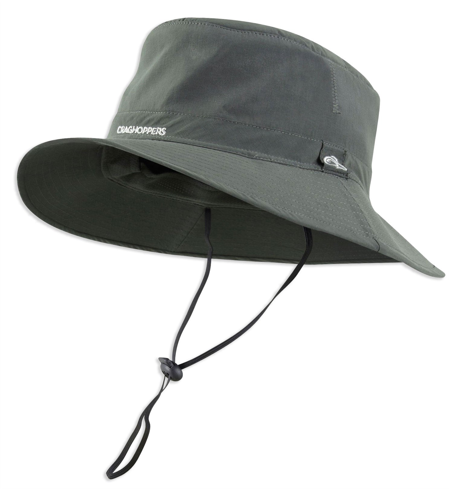 Wide Brim Bush hat Craghoppers NosiLife Outback Hat in Dark Khaki