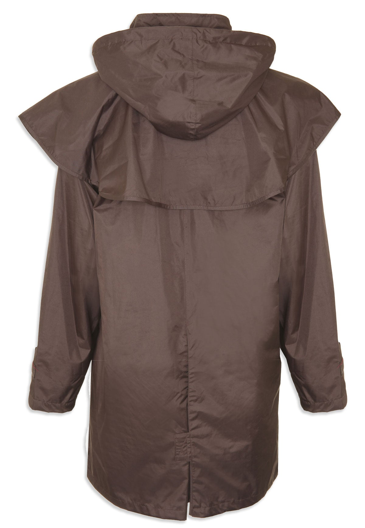 back view brown Ladies' Three-Quarter Length Waterproof Coat Windsor