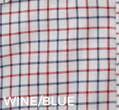 Red and Blue tattersall check