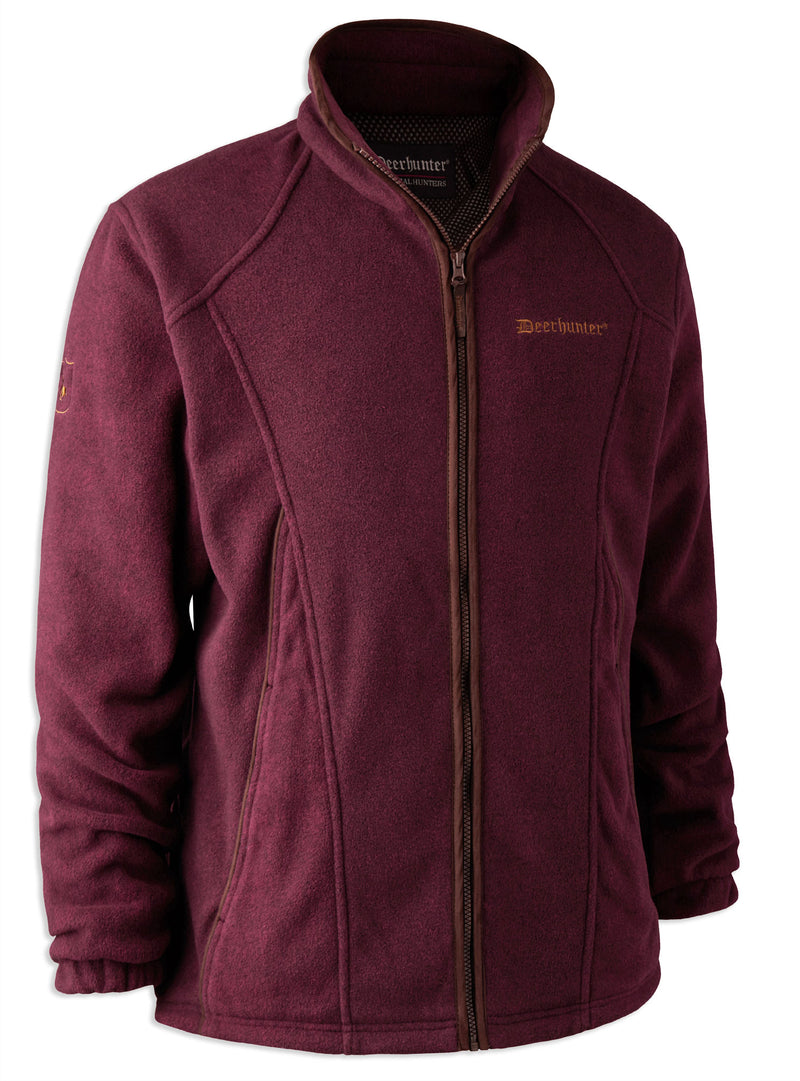 burgundy Deerhunter Wingshooter Stormliner Fleece Jacket