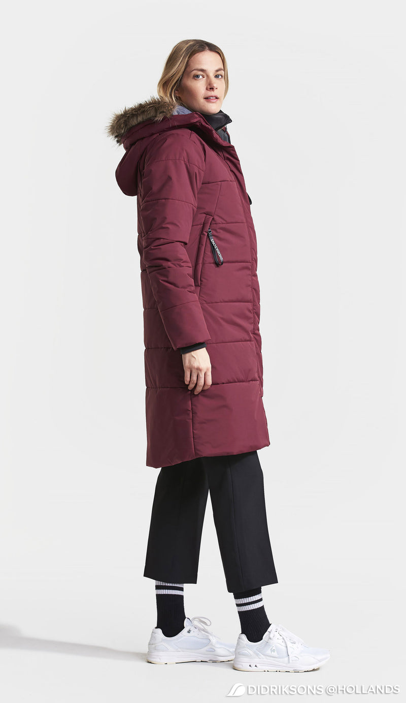 Side view Red Didriksons Valentina Padded Parka