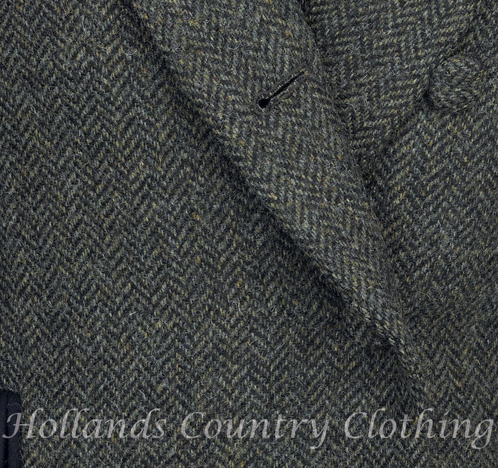 rust winter herringbone wool tweed by jack murphy