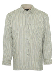 Olive Champion Cartmel Lined Shirt in Tattersall Check