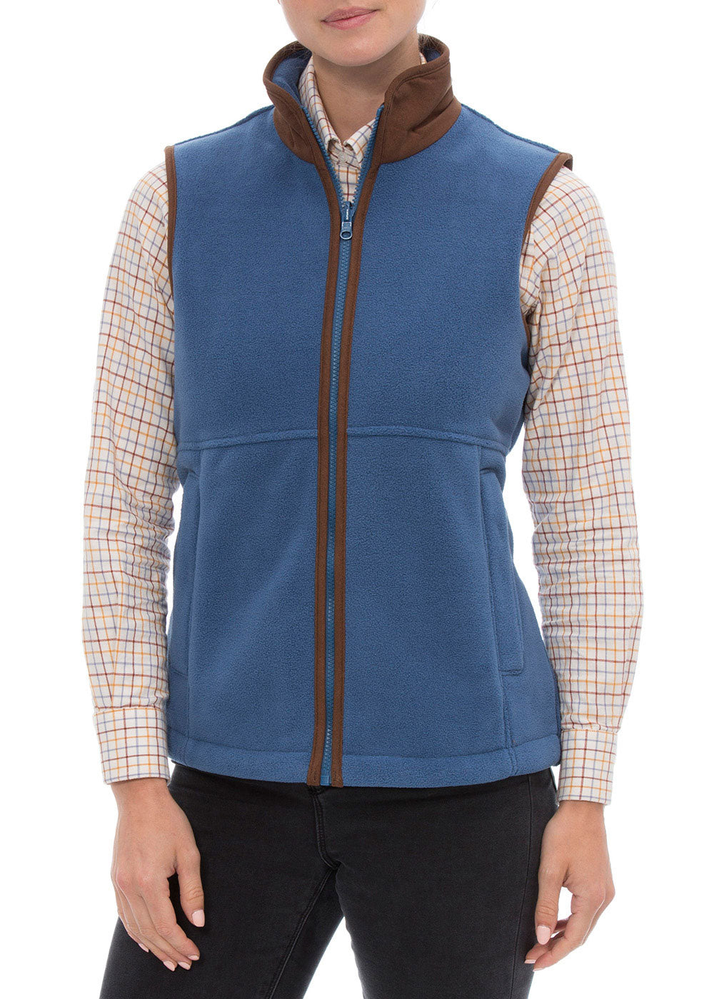 Blue Alan Paine Aylsham Fleece Gilet | Jean