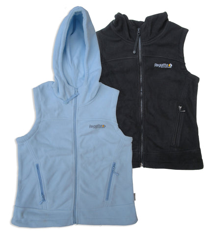 Black and blue Regatta Lora Hooded Fleece Bodywarmer