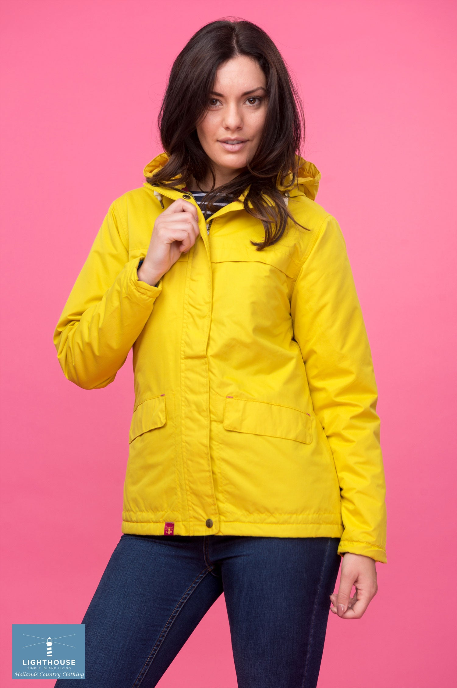 bright yellow Beaufort Waterproof Jacket by Lighthouse